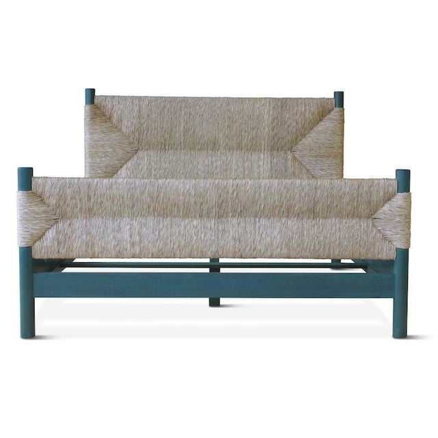 Not Yet Made - Made To Order Perriand Natural Rush Bed For Sale - Image 5 of 6