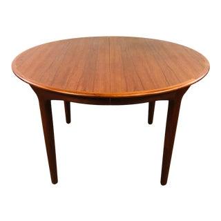 1960s Danish Modern Henning Kjaernulf Extendable Teak Dining Table For Sale