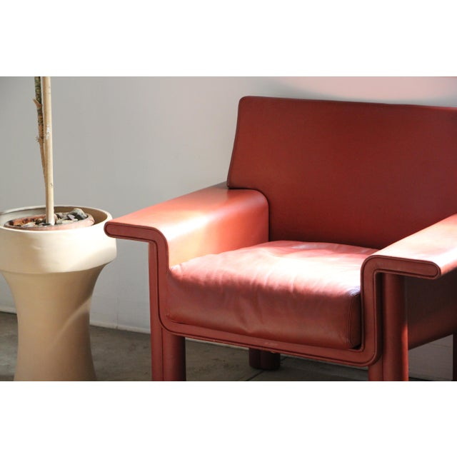 Afra & Tobia Scarpa Leather Lounge Chair For Sale - Image 12 of 13