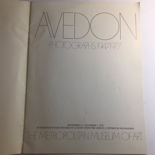 1977 Avedon Photographs 1947-1977 Book For Sale In New York - Image 6 of 8