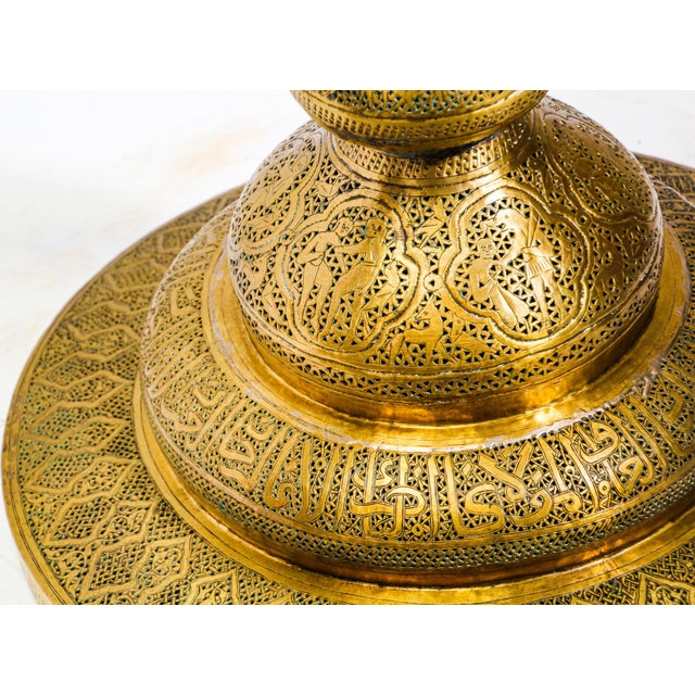 19th Century Antique Syrian Brass Dining Table Base For Sale - Image 10 of 13