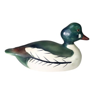1970s Vintage Weiss Ceramic Duck Decoy For Sale
