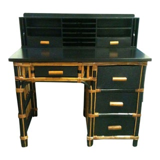 1920's Vintage Art Deco Wood Desk For Sale