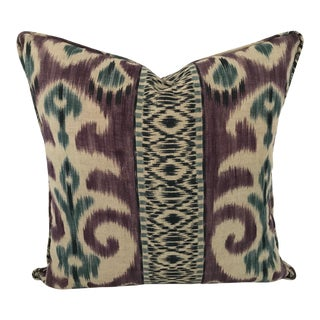 "Manuel Canovas Ikat Pattern Newly Made Custom 20"" Pillow For Sale"