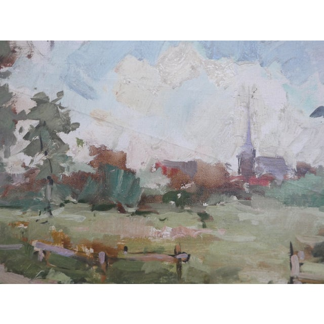 Antique Dutch Landscape Oil Painting For Sale - Image 4 of 7