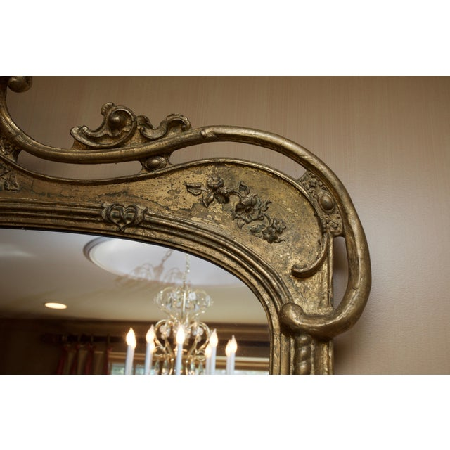 Roccoco Style Gilded Wood Mirror - Image 2 of 8