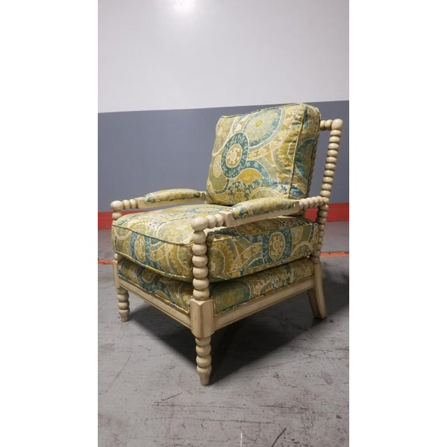 Contemporary Miles Talbott Bankwood Spindle Shiloh Spool Lounge Chair For Sale - Image 3 of 6
