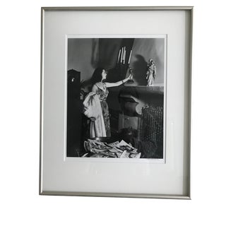 1940s Vintage Signed Photographic Print For Sale