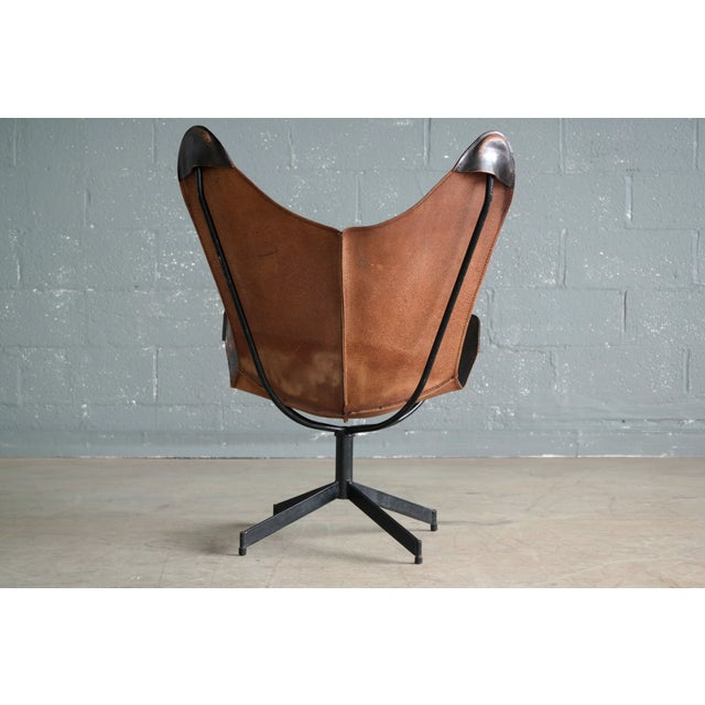 William Katavolos Leather Sling Chair and Ottoman for Leathercraft For Sale - Image 5 of 8