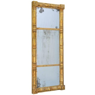 19th Century Empire Giltwood Pier Mirror For Sale