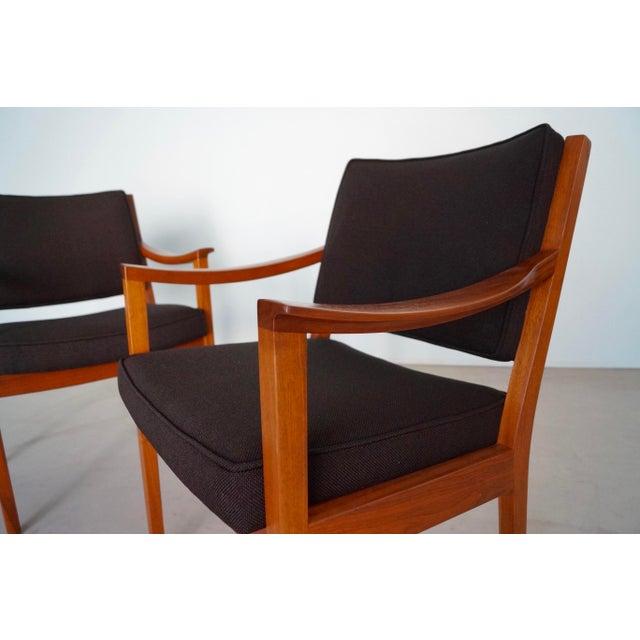 Gunlocke Mid-Century Modern Walnut Armchairs - A Pair For Sale - Image 10 of 13