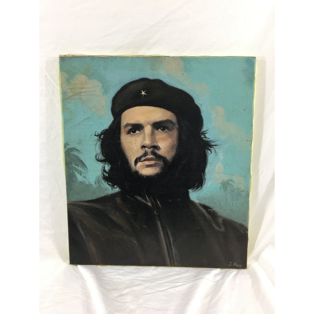 1960s Oil on Canvas Portrait of Che Guevara For Sale - Image 5 of 5
