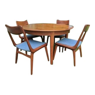 Erik Christensen Danish Mid-Century Teak Dining Room Set