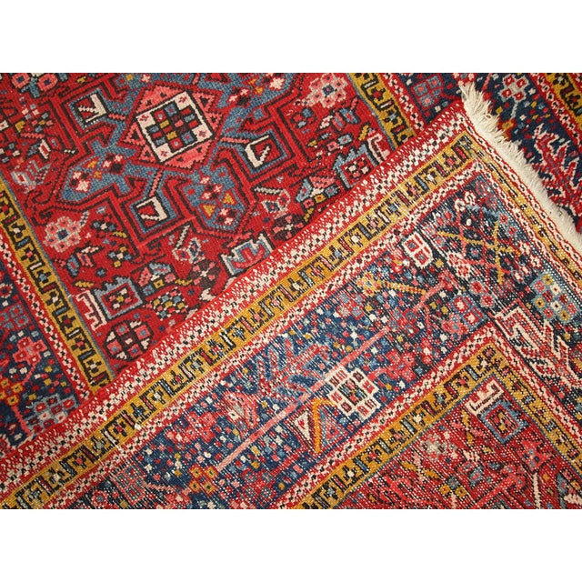 1920s Handmade Antique Persian Karajeh Runner - 3.5' X 10.8' - Image 9 of 10