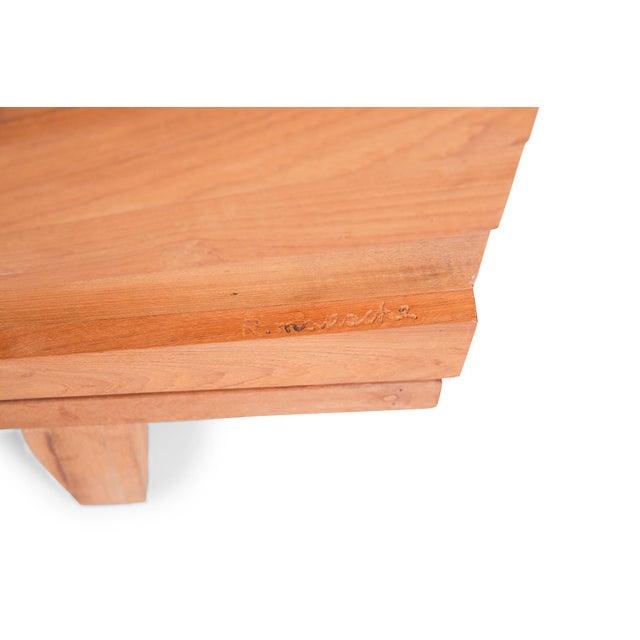Metal R. Mapache Signed Sunburst Teak Sideboard For Sale - Image 7 of 8