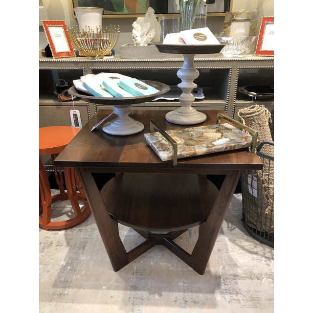 Contemporary Contemporary Borkholder Walnut Aero End Table For Sale - Image 3 of 7