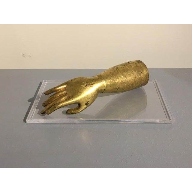 Tibetan Gilt Bronze Arm of the Buddha, early 19th century - Image 2 of 10