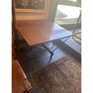 1950s Danish Modern Wood and Metal Coffee Table Preview