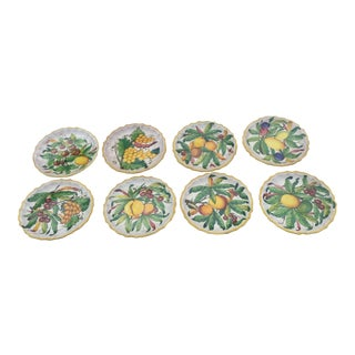Fratelli Fanciullacci Botanical Earthenware Dinner & Luncheon Plates - Set of 16 For Sale