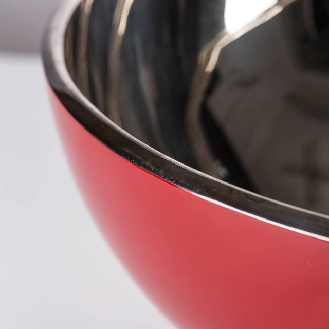 """Kon Kao"" Silver Plated Centerpiece by Lino Sabattini For Sale - Image 5 of 7"
