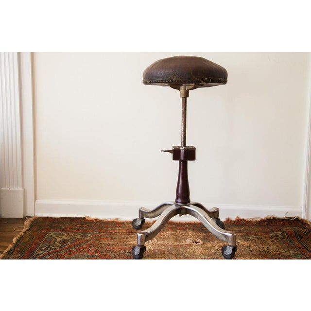 Rare and highly sought after vintage circa 1920s Shuron genothalmic stool that was likely used in a medical type of...