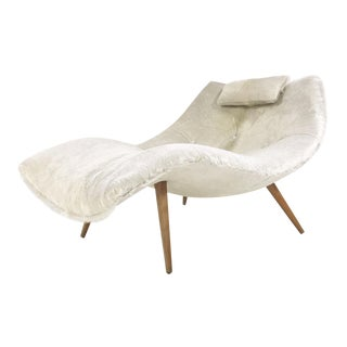 Adrian Pearsall Chaise Chair, Model 1828, Restored in Brazilian Cowhide