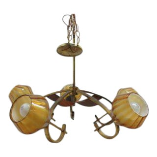 Mid-Century Italian Chandelier Light For Sale