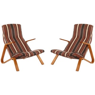 Early Pair of All Original Saarinen Knoll Grasshopper Chairs