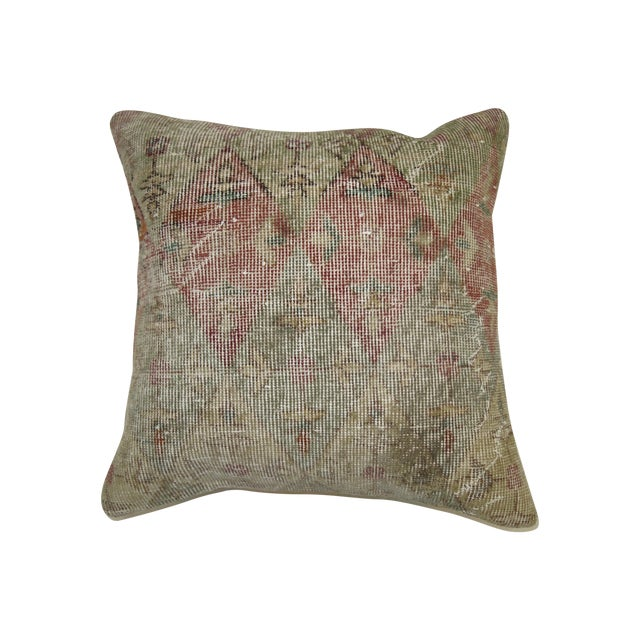 Distressed Rug Pillow - Image 1 of 3