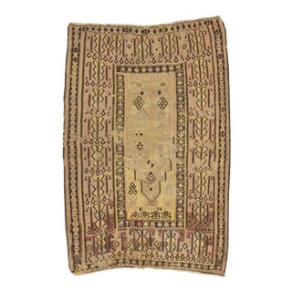 Vintage Faded Turkish Prayer Kilim Rug For Sale