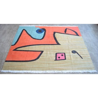 Paul Klee - Silence of the Angel - Inspired Silk Hand Woven Area - Wall Rug 4′6″ × 5′7″ Preview