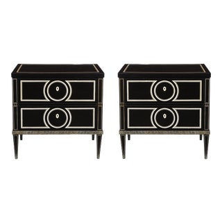 Custom Fornasetti Style Commodes - a Pair For Sale