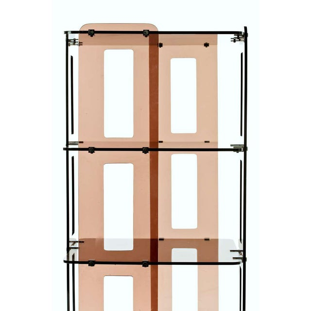 1970s French Lucite Bookcase in the Manner of Boris Tabacoff For Sale In New York - Image 6 of 8