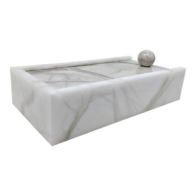 Hermes Inspired Alabaster Box For Sale