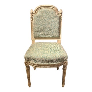 Decorated Cared Wood Louis XVI Style Side / Dining Chair For Sale