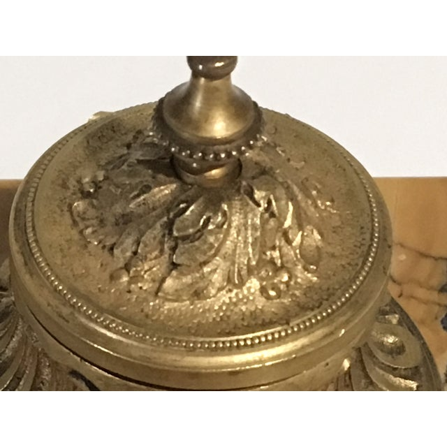 Found in central France this lovely inkwell is a decorative piece for any desk or tabletop. The intricate detail of the...