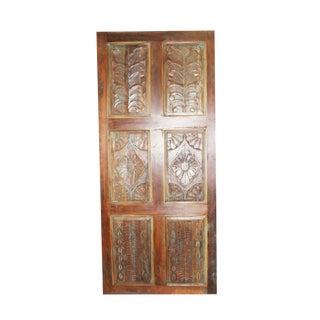 Vintage Farmhouse Floral Carved Door For Sale
