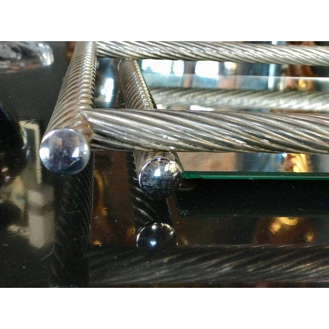 Italian Rectangular Tray with Spiral Silver Frame, 1960s For Sale - Image 4 of 8