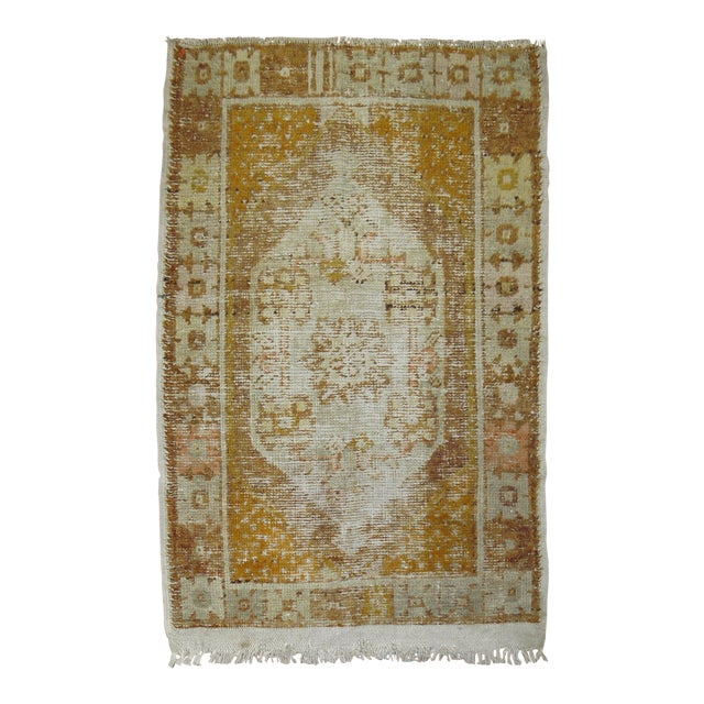 Distressed Turkish Anatolian Rug, 2'11'' x 4'3'' For Sale