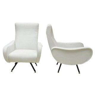 Mid Century Modern Marco Zanuso Italian Chairs- A Pair For Sale