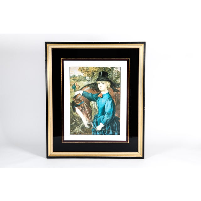 Folk Art Early 20th Century French Print Lithograph With Painted Wood Frame For Sale - Image 3 of 12