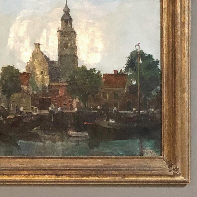Mid-Century Framed Original Painting on Canvas by Joseph Tilleux (1896-1978) For Sale In Dallas - Image 6 of 10