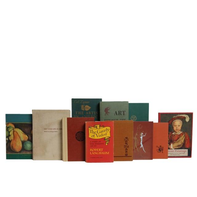 Vintage Earthtone Art Scholar Book Set, S/20. Features a blend of twenty authentic vintage books published 1949-1969....