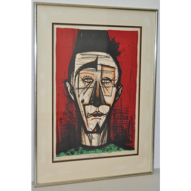 "Bernard Buffet ""Clown with Fez"" Lithograph c.1968 - Image 2 of 7"