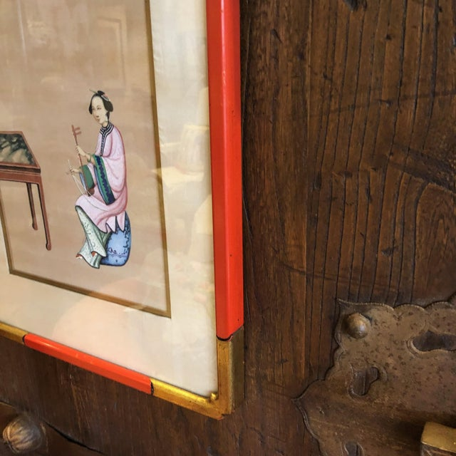 '4' Chinese Export Paintings on Silk - Set of 4 For Sale In Tampa - Image 6 of 8