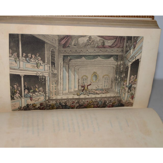 Early 19th Century Leather-Bound Books With Engravings by Rowlandson - a Pair For Sale - Image 12 of 13
