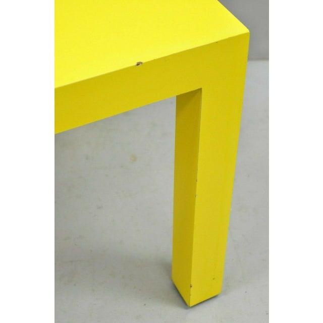 Thayer Coggin 1970s Contemporary Thayer Coggin Milo Baughman Yellow Parsons End Table For Sale - Image 4 of 11