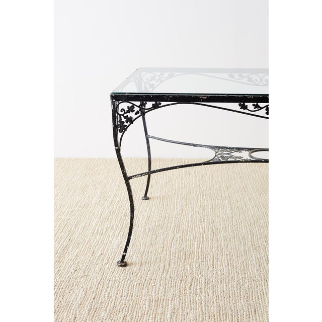 Salterini Style Wrought Iron Patio Garden Table For Sale - Image 11 of 13