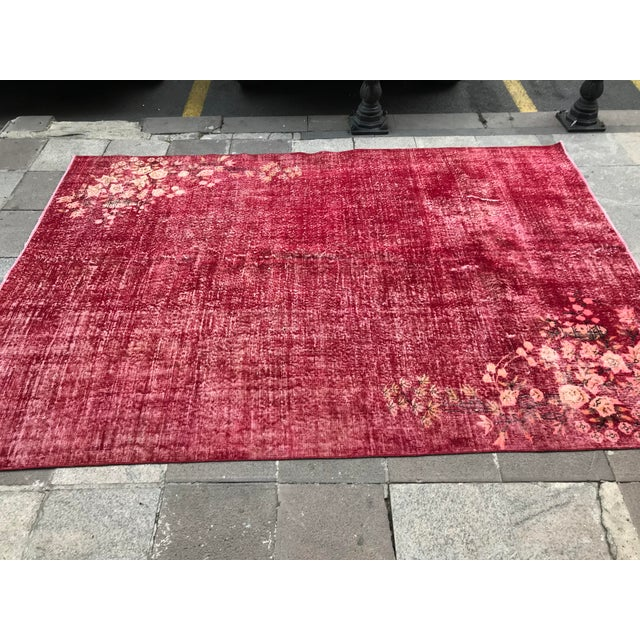 Turkish Tribal Anatolian Distressed Vintage Rug - 7′ × 10′2″ For Sale In Austin - Image 6 of 11
