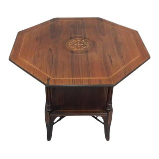 English Inlaid Rosewood Table A